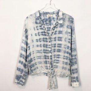 Bella Dahl Tencel Tie Dye Button Down Shirt Medium